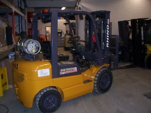 used 6,000lb propan forklift