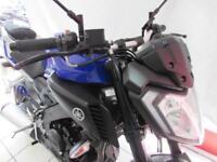 YAMAHA MT-125 ABS, 17 REG IN YAMAHA BLUE WITH OXFORD HEATED GRIPS...