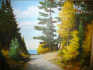 "Matthew F. Kousal ""Early Morning Road"" Original Oil Painting Stratford Kitchener Area image 8"