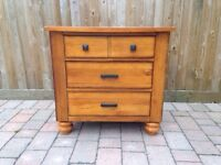 Solid pine chest of draws