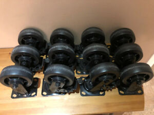 """2 Sets of Heavy Duty 5"""" Casters"""