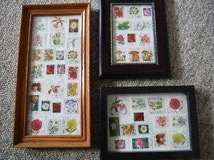 Flowery Stamps in a Frame Peterborough Peterborough Area image 1