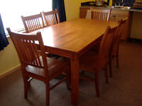 Dining Room Table Set - Beautiful Solid Wood