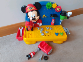Mickey Mouse Tool Bench with sounds and Car