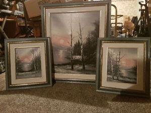 Set of 3 paintings