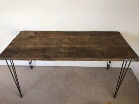 Rustic wood office table
