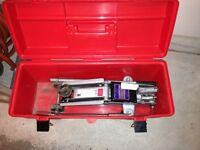 Floor jack with case