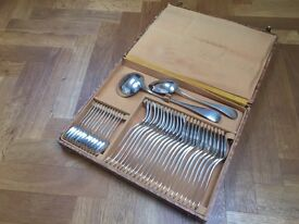 Set of silver antique French cutlery.