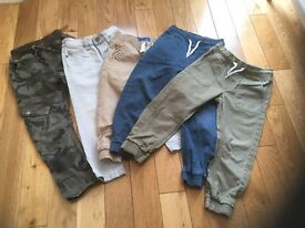 5 pairs of boys jeans various brands size 3 - 5