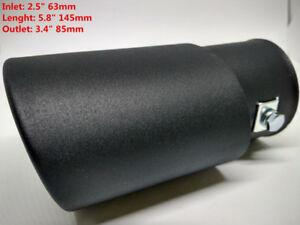 """2 Black Exhaust Tips-2.25""""-2.50"""" Inlet"""