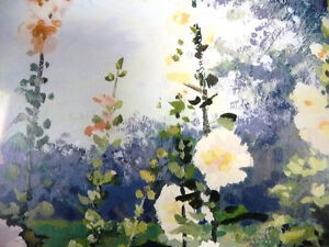 "Hand S/N by Peter Etril Snyder ""Hollyhocks By The Fence"" 16/500 Stratford Kitchener Area image 3"