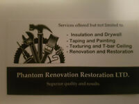 Looking for painting and renovation contracts.