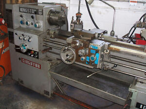 Kingston 14 x 40 lathe with taper attachment