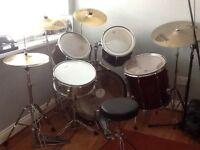 Pearl export series complete drum kit