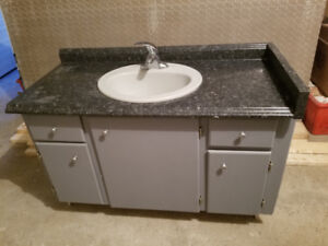 "48"" Wide Bathroom Vanity with Porcelain Sink and Faucet"