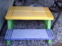 Free kids play bench for free