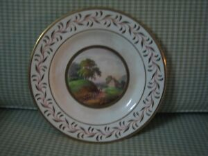 Royal crown derby hand painted Scenic Round shaped Plate