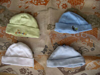 Baby caps (white and green SOLD)