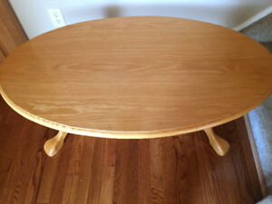 Solid Oak Coffee Table, 2 End Tables and 1 Magazine Table