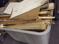 Free bits of wood ideal for burning or recycling