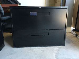 Global Black 2 Drawer Lateral File - $99.00