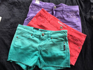 Lot de 3 shorts colorés
