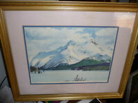 "Huntley Brown ""Frozen Maligne Lake"" Vintage Signed and Numbered"