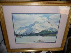 "Huntley Brown ""Frozen Maligne Lake"" Vintage Signed and Numbered Stratford Kitchener Area image 1"
