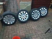 "17""alloy wheels of vauxhall"