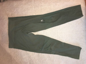 Adidas- olive tights size medium