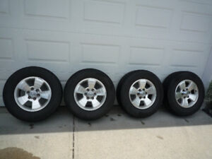 Toyota Tacoma or 4-Runner wheels and tires.