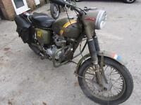 1967 TRIUMPH 3TA DUTCH ARMY BIKE MATCHING NUMBERS,
