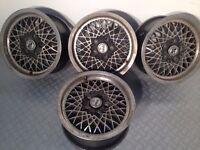 "MSW 15"" 7j 5x112 original deep dish alloy wheels, mercedes, vw audi, not borbet, azev, penta"