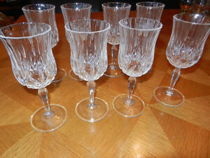 8 Crystal Glasses