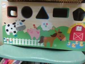Wooden sorting toy box at Second Stage