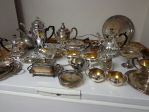 ANTIQUE VINTAGE SILVER ITEMS (ESTATE SALE)