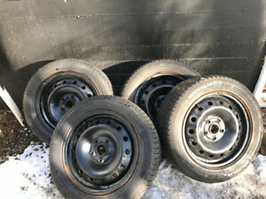 215 55 16 winter tires with rims - 5 bolt 114.3 - 57mm hub