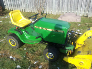 john deere 165 with blower
