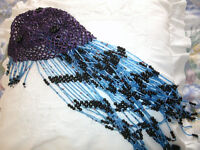 Beaded belly dance cap