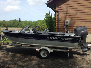 16ft boat motor and trailer