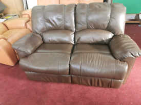 Two seaters recliner sofa brown in very good condition.