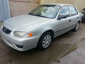 2001 TOYOTA COROLLA CE CLEAN TITLE CAR PROOF AUTO SAFTIED