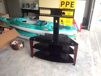 Glass & wood tv stand