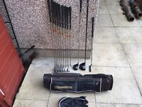 Full set of golf clubs. 3-SW Irons, Driver, 3 Wood & Putter & Bag. Immaculate