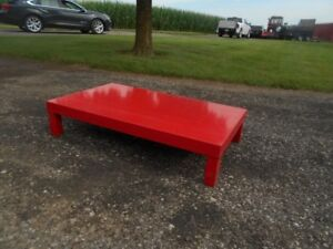 """5-RED STANDS 8"""" HIGH  24"""" WIDE 40"""" LONG"""