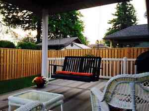 Beautiful  custome hand crafted porch swing Stratford Kitchener Area image 5