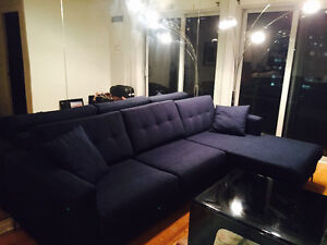 Designer L couch in perfect condition