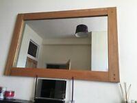 Oak framed large mirror