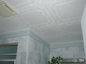 Glue-on ceiling tiles in Canada now! - $0.49 (Bathur x Steels)