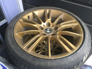 bmw oem m rims form 2010 335xi with rft tires